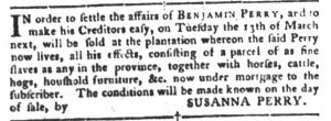 Feb 27 1770 - South-Carolina Gazette and Country Journal Slavery 6