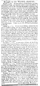 Feb 27 1770 - South-Carolina Gazette and Country Journal Slavery 9