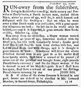 Feb 8 1770 - New-York Journal Slavery 1