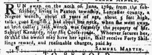 Feb 8 1770 - Pennsylvania Gazette Slavery 2