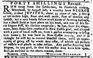 Feb 8 1770 - Pennsylvania Gazette Slavery 3