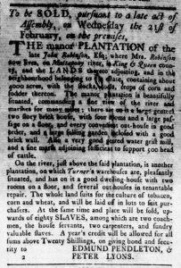 Feb 8 1770 - Virginia Gazette Rind Slavery 1
