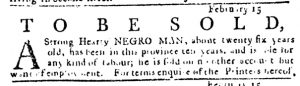 Mar 1 1770 - Pennsylvania Journal Slavery 3