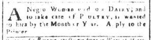 Mar 2 1770 - South-Carolina and American General Gazette Slavery 3