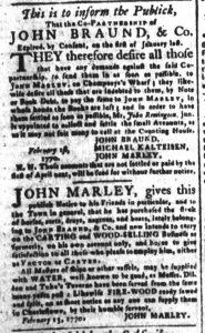 Mar 2 1770 - South-Carolina and American General Gazette Slavery 7