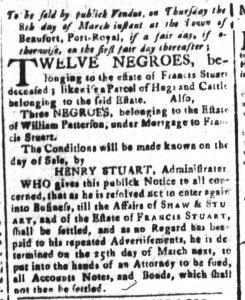 Mar 2 1770 - South-Carolina and American General Gazette Slavery 8