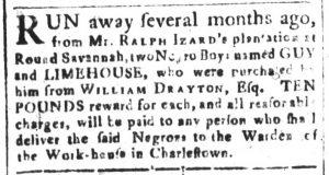 Mar 2 1770 - South-Carolina and American General Gazette Slavery 9