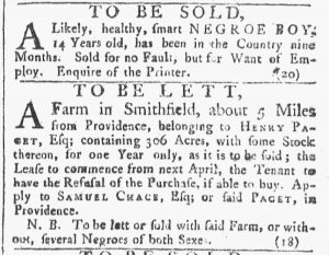 Mar 3 - 3:3:1770 Providence Gazette