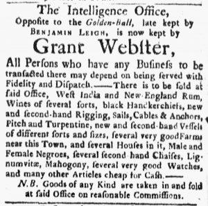 Mar 5 1770 - Boston Evening-Post Slavery 1