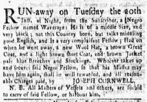 Mar 5 1770 - New-York Gazette and Weekly Mercury Slavery 1