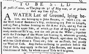 Mar 5 1770 - New-York Gazette or Weekly Post-Boy Slavery 1