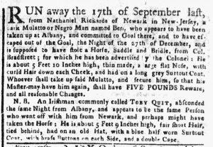 Mar 5 1770 - New-York Gazette or Weekly Post-Boy Slavery 2