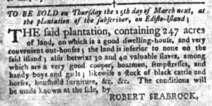 Mar 6 1770 - South-Carolina Gazette and Country Journal Supplement Slavery 5