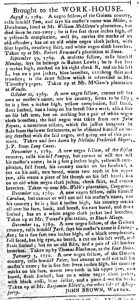 Mar 6 1770 - South-Carolina Gazette and Country Journal Supplement Slavery 7