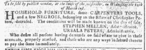 Mar 7 1770 - Georgia Gazette Slavery 3