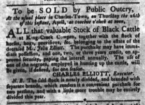 Apr 10 1770 - South-Carolina Gazette and Country Journal Slavery 3