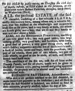 Apr 10 1770 - South-Carolina Gazette and Country Journal Slavery 5