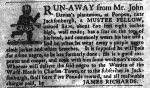 Apr 10 1770 - South-Carolina Gazette and Country Journal Slavery 7