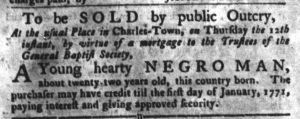 Apr 10 1770 - South-Carolina Gazette and Country Journal Slavery 8