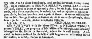 Apr 11 1770 - Georgia Gazette Slavery 3