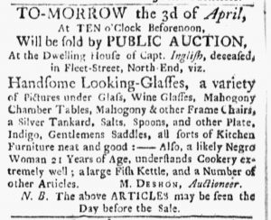 Apr 2 1770 - Boston Evening-Post Slavery 2