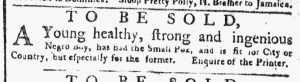 Apr 2 1770 - New-York Gazette or Weekly Post-Boy Slavery 1