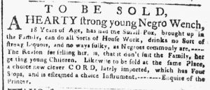 Apr 2 1770 - New-York Gazette or Weekly Post-Boy Slavery 2