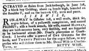 Apr 3 1770 - South-Carolina Gazette and Country Journal Slavery 11