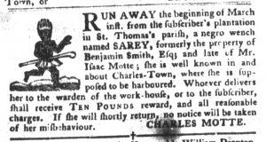 Apr 3 1770 - South-Carolina Gazette and Country Journal Slavery 12