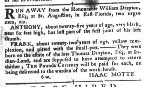 Apr 3 1770 - South-Carolina Gazette and Country Journal Slavery 13