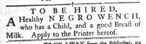 Apr 3 1770 - South-Carolina Gazette and Country Journal Slavery 14