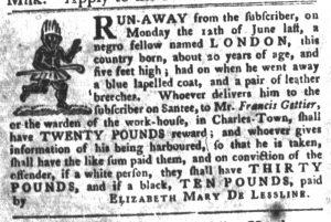 Apr 3 1770 - South-Carolina Gazette and Country Journal Slavery 15