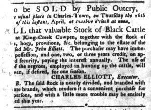 Apr 3 1770 - South-Carolina Gazette and Country Journal Slavery 2