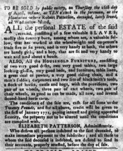 Apr 3 1770 - South-Carolina Gazette and Country Journal Slavery 4