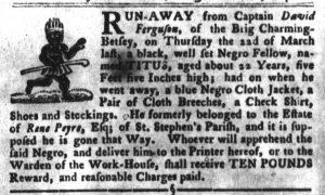 Apr 3 1770 - South-Carolina Gazette and Country Journal Slavery 5