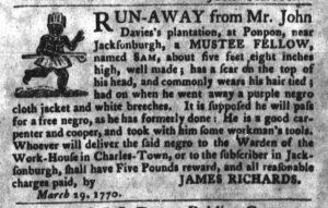 Apr 3 1770 - South-Carolina Gazette and Country Journal Slavery 6