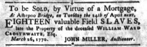 Apr 3 1770 - South-Carolina Gazette and Country Journal Slavery 8