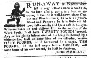 Apr 3 1770 - South-Carolina Gazette and Country Journal Supplement Slavery 1