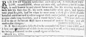 Apr 4 1770 - Georgia Gazette Slavery 5