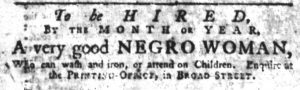 Apr 4 1770 - South-Carolina Gazette Supplement Slavery 1