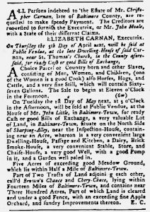 Apr 5 1770 - Maryland Gazette Slavery 3