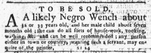Apr 5 1770 - New-York Journal Slavery 1