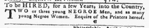 Apr 5 1770 - Pennsylvania Gazette Slavery 2