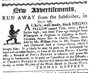Apr 5 1770 - South-Carolina Gazette Supplement Slavery 11