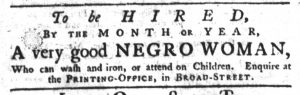 Apr 5 1770 - South-Carolina Gazette Supplement Slavery 4
