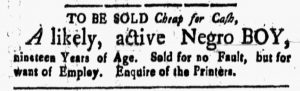 Apr 6 1770 - New-Hampshire Gazette Slavery 2