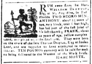 Apr 6 1770 - South-Carolina and American General Gazette Slavery 4