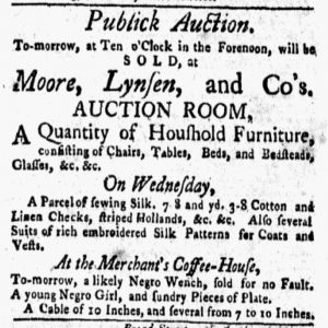 Apr 9 1770 - New-York Gazette and Weekly Mercury Slavery 1