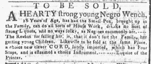 Apr 9 1770 - New-York Gazette or Weekly Post-Boy Slavery 2