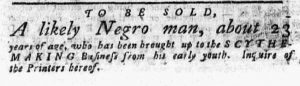 Apr 9 1770 - Pennsylvania Chronicle Slavery 1